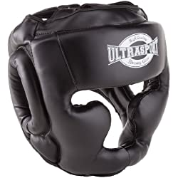 Ultrasport Full Face - Protector de boxeo, color negro, talla M