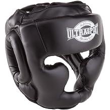 Ultrasport Full Face - Protector de boxeo, color negro, talla S