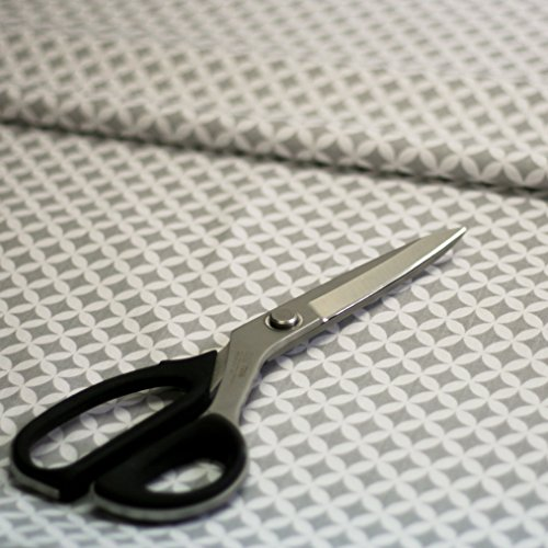 4L Textil Baumwollstoff Uni 100% Stoffe Stoff Meterware Baumwolle Ungemuster, Blumen, Dots, Rosen, Eulen 50 cm (Marokko grau) (Stoff Marokko)
