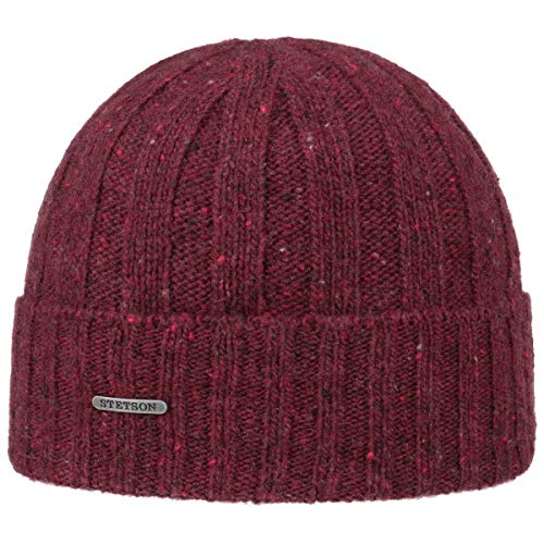 Stetson Bonnet Wisconsin Donegal Homme - Made in Italy en Tricot a Revers pour l'hiver avec Revers, Automne-Hiver
