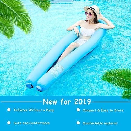 Minetom Pool Hängematte Wasserhängematte Luftmatratze Wasserhängematte Wasser Sofa Wasser Schwimmliege Wasserhängematte Wasserliege Aufblasbares,236 x 24cm -
