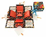 #4: Crack of Dawn Crafts-3 Layered Birthday Explosion Box - Orange Fun