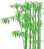 Indigos 4051719923117 Wandtattoo MD172 beeindruckender asiatischer Bambus 60 x 54 cm, bunt farbig