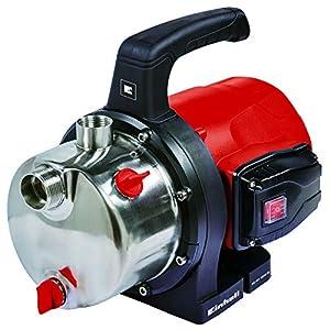 Einhell 4181460 Bomba de trasvase (potencia de 1.200 W, capacidad máxima 5.000 l/h), 1200 W, Negro, Rojo, Acero inoxidable