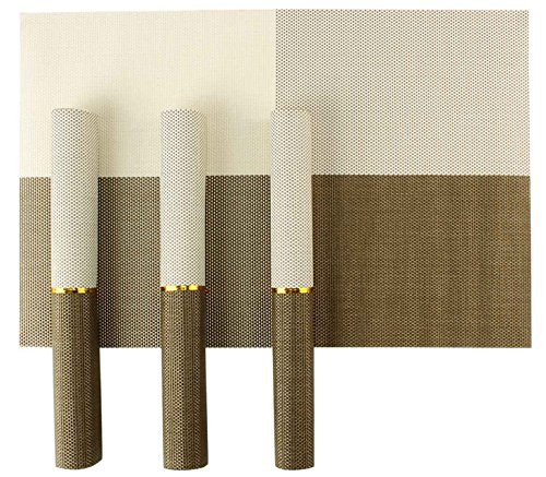 Hokipo Pvc Dining Table Kitchen Placemats, 45 X 30 Cm, 4 Pieces, 1 Set