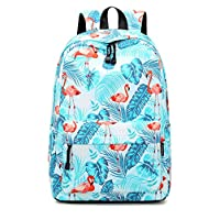 Joymoze Children Backpack for Boy and Girl Lightweight School Backpack for Teenage Green Flamingo