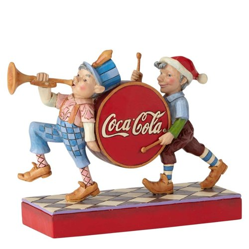 ENESCO Jim Shore Coca Cola Merry Musicians Elf Marching Christmas Figurine 6000999 Coke (Marching Band Halloween)