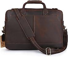 Vintage Kattee maletín piel estilo sencillo 17