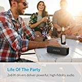 Anker SoundCore 2 Bluetooth Speaker with Better Bass, 24-Hour Playtime, 66ft Bluetooth Range, IPX5 Water Resistance & Built-in Mic — Dual-Driver Wireless Speaker for iPhone, Samsung etc