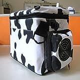 PENG Vaches voiture portable réfrigérateur 12 / 220V Automotive 6 litres d'emballage noir et blanc et le bien-être