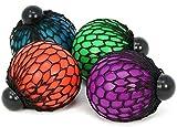 CBK-MS Squeeze Ball im Netz gegen Büro Stress Antistress Ball Quetschball 4 Farben