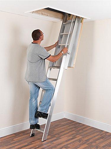ramsay al3 aluminium sliding loft ladder attic ladders