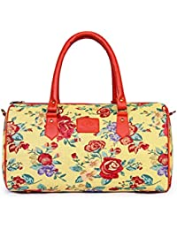 [Sponsored]The Clownfish 18 Inch 26 Litres Floral Tapestry Travel Duffle Cabin Bag Weekend Bag Luggage Bag