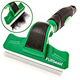 k9konnection The Furbeast Deshedding Tool & Pet Grooming Brush For Small, Medium And Large Dogs Or Cats With Long Or Short Hair - Effectively Reduces Undercoat Shedding By 90% With 4 Inch Blade