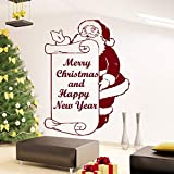 YuanMinglu Feiertagsdekoration Frohe Weihnachten Wandaufkleber Santa Happy New Year Poster Wandkunst...