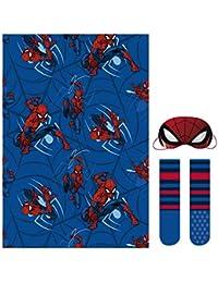 Cerdá Set Regalo Manta Spiderman, Calentadores para Niños, (Azul 38), One Size (Tamaño del Fabricante:única)