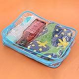 Kicode Reise Make-up Klare Kulturbeutel Kosmetische Pvc-Taschen Taschen waschen Organisator-Fälle Blau