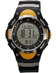 SUNROAD FR828A deportivo reloj con brújula digital barometro termometro cronometro alarma pesca prediccion del tiempo del reloj de los hombres