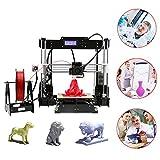 3D-Drucker, LESHP Extruder 3-LCD-Bildschirm USB-SD-Karte DIY Hochpräzise, Full Metal Frame Struktur arbeitet mit PLA ABS Filaments