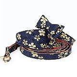 Haustierleine Blaues waschbares Dreieck-Stirnband, Kragen heißes Stempeln Stoff Dreieck mit Hundeleine Set.