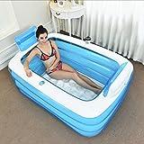 Erwachsene blaue tragbare faltende aufblasbare Badewanne BADEKURORT-Luft-Badewannen-gemütliche tränkende Wanne aufblasbares Hauptpool-Badezimmer der Kinder