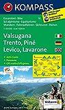 Valsugana - Trento - Piné - Levico - Lavarone: Wanderkarte mit Aktiv Guide, Panorama, Radwegen und alpinen Skirouten. GPS-genau. 1:50.000 (KOMPASS-Wanderkarten, Band 75) -