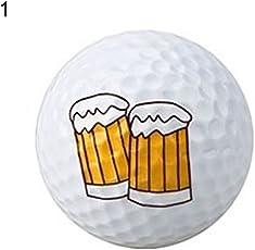 ZHOUBA Funny cute Emoji doppi strati palline da golf bambini principianti Practice training Tool