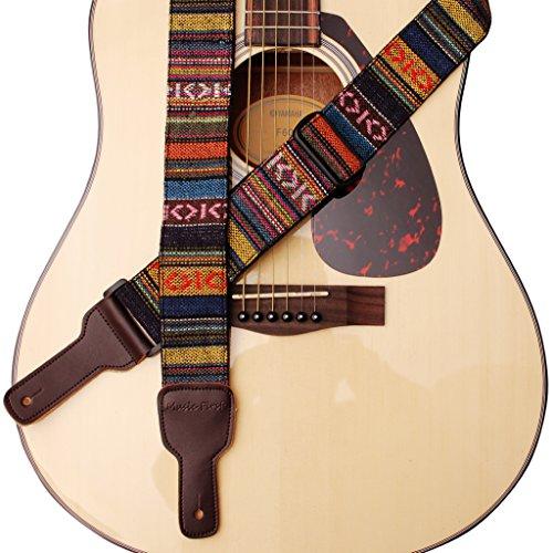 Musik Erste Original Design Classic Country Style Soft-Baumwolle und echtem Leder Gitarrengurt, Banjogurt