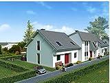 Zopix Poster Halb Freistehend Haus Villa Wandbild - Premium (60x40 cm, Versch. Größen) - Leinwand Alternative - Inklusive Poster-Stripes