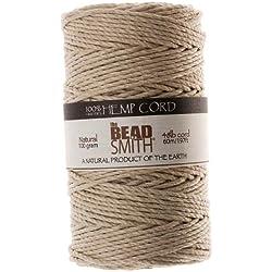 Beadaholique Natural cáñamo Cuerda cordón de Perlas, 2mm por 197-feet