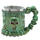 Stammes-Schädel-Krug-Kaffeetasse-Schalen-Gruseliger Entwurf 3D