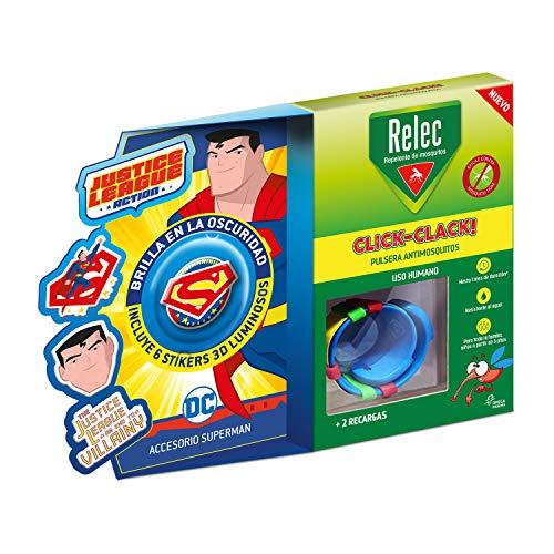 Relec Pulsera antimosquitos, Duración 2 meses, 1 pulsera, Superman