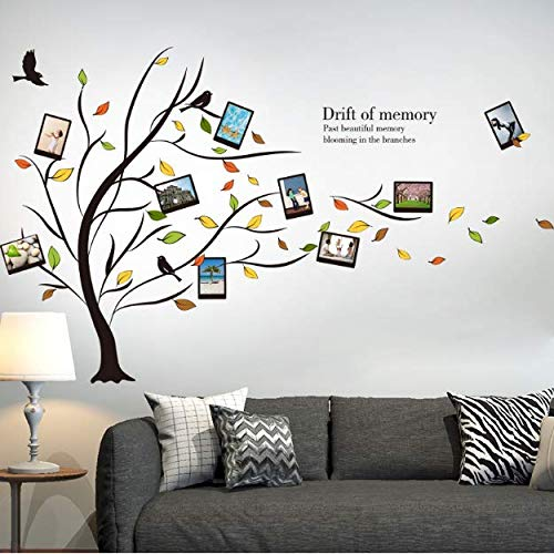 Autumn Tree Leaves Wall Sticker Removable Vinyl Photo Frame Decal For Kids Room Living Room Restaurant Decoration 123Cm*95Cm