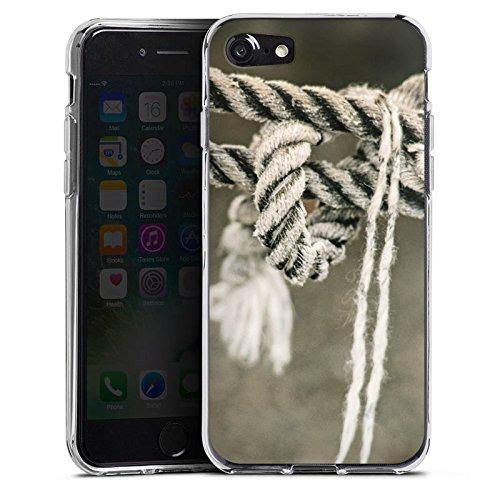 Apple iPhone X Silikon Hülle Case Schutzhülle Seil Seefahrt Knoten Silikon Case transparent