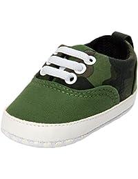 YanHoo Bebé niña niño con Cordones Zapatos de Lona Zapatillas Antideslizantes niños Zapatos Casuales Zapatos de