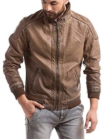 Shuffle Men's Cotton Jacket (8907423022072_2021507502_X-Large_Brown)