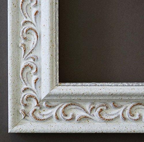 Spiegel Wandspiegel Badspiegel Flurspiegel Garderobenspiegel - Über 200 Größen - Verona Weiß 4,4 - Außenmaß des Spiegels 100 x 130 - Wunschmaße auf Anfrage - Modern