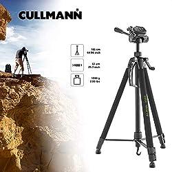Cullmann ALPHA 3500 Dreibeinstativ mit Kurbelsäule, 3-Wege-Kopf und Kameraschnellkupplungs-System schwarz