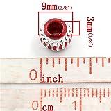100pcs rond en aluminium mixte Perles Charms Bijoux Apprêt 9mm - 5