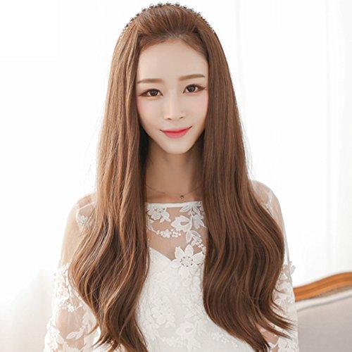 große Wellen und langen lockigen Haaren/Birne halbe Perücke Perücken/Gefälschte Haare flauschig Frau-A (Frau Pimp Kostüm)