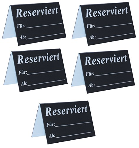 Reserviert - Tischaufsteller beschriftbar