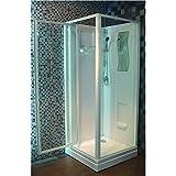 Cabine de douche CONCERTO 80 x 80 cm accès de face porte pivotante Réf OLS123