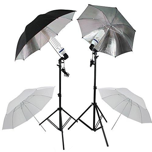RPGT® Studiolampen Set mit Durchlichtschirmen & Reflektorschirmen