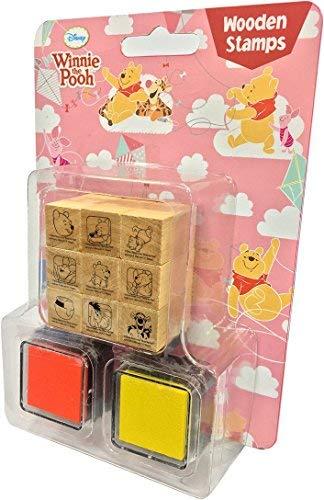 Disney Dekorative Stempel und Tinte, Holz, 9 Stück Winnie The Pooh (Mickey-papier-stempel)