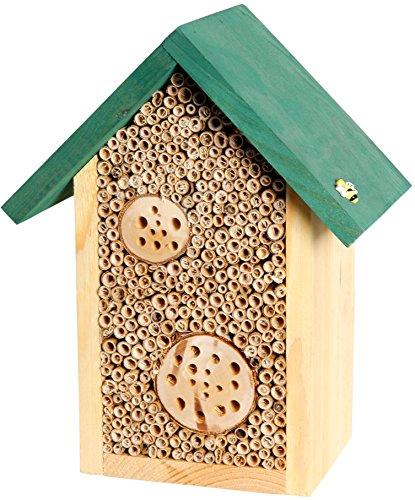 Luxus-Insektenhotels 22622e Maison à abeilles avec roseaux et troncs Toit vert