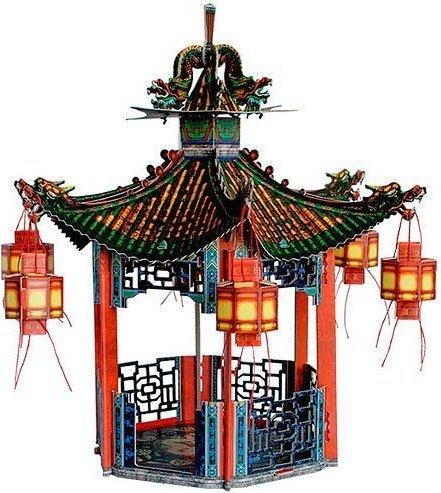 Umbum 28830x 30x 30cm Clever Papier Puppe Haus und Möbel Kollektion Chinese Pavilion 3 Preisvergleich