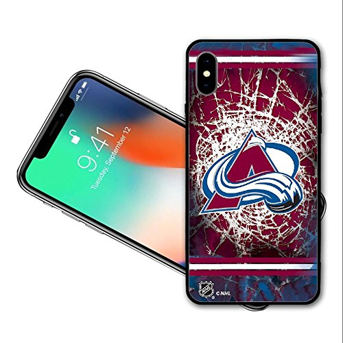 SYSJK Phone Hülle Colorado Hülle 1 Avalanche 1 for iPhone X Generation,PC Material Never Fade Colorado Avalanche Iphone