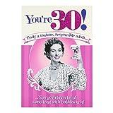 "Hallmark Carte d'anniversaire 30ans bulles ""Drink""–Medium"