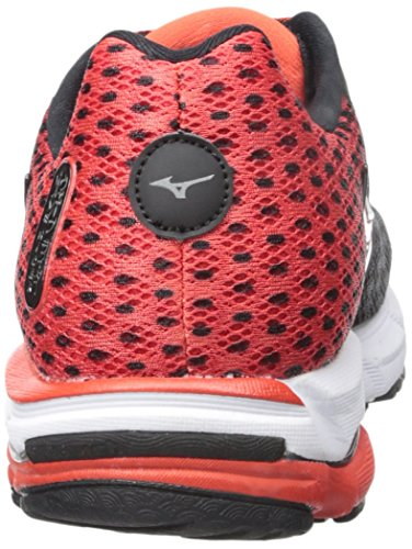 Mizuno Wave Rider 18 Synthétique Chaussure de Course Black-Silver-Red