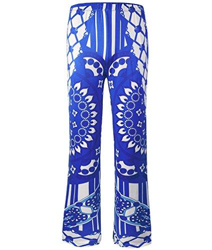 Anguang Donna Stampato Casuale Sciolto Wide-leg Yoga Pantaloni Boemia Harem Pantaloni